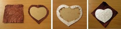 Процесс изготовления сердечка